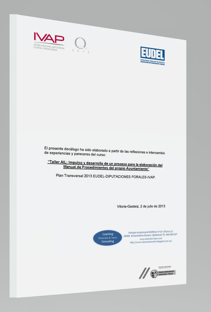 Decálogo Manual de Procedimientos